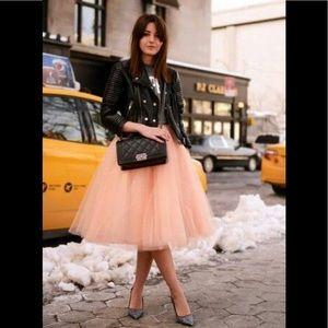 Chicwish tulle skirt in ice orange